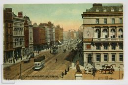 Postcard Ireland - Westmoreland Street - Signal Series - Animated - Trams & Horse Carriages - Dublin