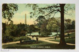 Postcard Ireland - Peoples Gardens, Dublin - Signal Series - Dublin