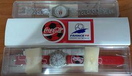 MONTRE COCA COLA (lot De 2) - FRANCE 1998, COUPE DU MONDE - Watches