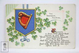 Postcard Ireland - The Shamrock Forever - Irish Heritage - National Series M & L - Irlanda