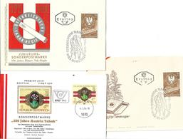 1592x: Österreich Austria Tabak, 3 Belege - Tabak