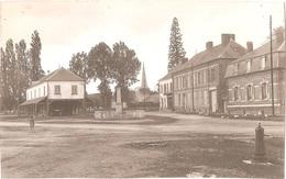 Dépt 80 - QUEVAUVILLERS - ÉPREUVE De CARTE POSTALE (photo R. LELONG) + PLAQUE De VERRE - La Mairie - Édition G. Humbert - France