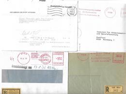 1592v: Postfreistempler, Postautomation, Belegelot Mehrere Scans - Poststempel - Freistempel