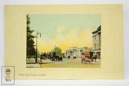 Postcard England - Hyde Park Corner - Unknown Publisher - Animated Buses & Carriages - Londres