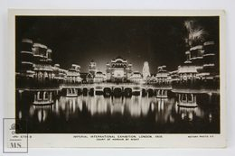 Postcard England - Imperial International Exhibition, London 1909 - Court Of Honour By Night - Rotary Photo - Londres