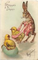 CARTE GAUFREE.  HEUREUSES PAQUES - Pasqua