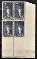 FRANCE 1937 - BLOC DE 4 TP / Y.T. N° 352 - COIN DE FEUILLE / DATE / NEUFS** - Dated Corners
