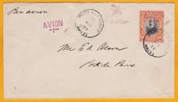 1927 - Enveloppe Par Avion (pionnier Aéropostale) De Port Au Prince Vers Port De Paix, Haïti - Haïti