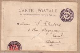 INDOCHINE - OBLITERATION SAÏGON PAQUEBOT COCHINCHINE - ORCHIDEES - éditeur Mottet & Cie - Avant 1904 - Lettres & Documents