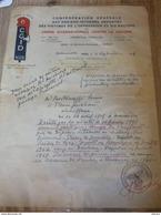 Lettre CGID Racisme Déporté Dachau 1940 Prisonnier Guerre évadé Besançon Commando Wehrmacht Tampon - Documents Historiques