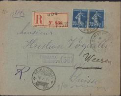 Guerre 14 18 Poste Serbie YT 140 X2 CAD Trésor Et Postes 504 3 8 17 Recommandée CAD Serbe SP96 16 7 17 Censure - Marcophilie (Lettres)