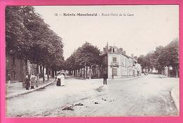 SAINTE MENEHOULD - ROND POINT DE LA GARE ANIMEE - Sainte-Menehould