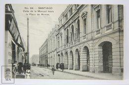 Postcard Chile - Santiago - Calle De La Merced Hacía La Plaza De Armas - Foto Leon - Hermanos Gallardo 393 - Chile