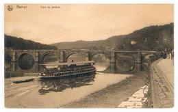 CPA : NAMUR - Pont De Jambes , Bateau Touriste, à Droite Boulevard Ad Aquam , Linge Sur Quai - Namur