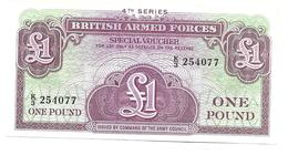 BRITISH ARMED FORCES  1 POUND  4th Series  Uncirculated - Altri