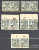 SBZ  Michel #   87 III  5 X  Pärchen  Verschiedene Positionen - Zone Soviétique
