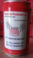 CAN COCA COLA - FRANCE - 1994 - 16/10/94 : 5ème ANNIVERSAIRE DE L'USINE COCA COLA DE SOCX - Cannettes