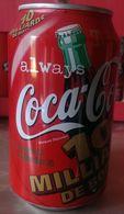 CAN COCA COLA - FRANCE - 1998 - 20/02/98 : 10 MILLIARDS DE BOÎTES A COCA COLA PRODUCTION A SOCX - Cannettes