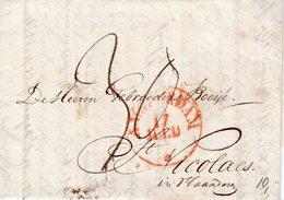 17 Juli 1824 Complete Brief Van Amsterdam Naar St. Nicolaes - Nederland