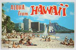 Postcard Hawaii - Aloha - Waikiki Beach Honolulu - Year 1981 - Plastichrome - Honolulu