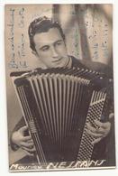 Photo Dédicacée 14 X 9 Cm, Maurice Nessans Accordéoniste , Septembre 1946 - Dédicacées
