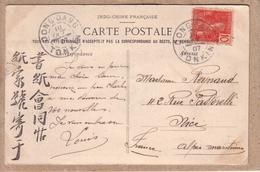INDOCHINE - TONKIN - OBLITERATION DONG DANG AOÛT 1907 - DONG DANG - 791 - CASERNES ET VILLAGE - éditeur Dieulefils - Indochina (1889-1945)