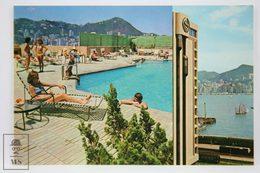 Postcard Hong Kong - Rooftop Pool Sheraton Hotel - Year 1975 - - China (Hong Kong)