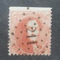 BELGIE  1863   Nr. 16 A   Tand 13 1/2   PT 211  Lede   Coba 'raar' - 1863-1864 Medallions (13/16)