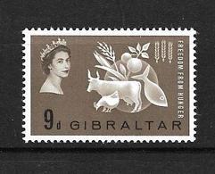 GIBRALTAR 19643 CAMPAGNE CONTRE LA FAIM  YVERT N°159  NEUF MNH** - Contro La Fame