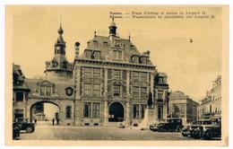 CPA : NAMUR - Place D'Armes Et Statue De Léopold II, Automobiles - Namur