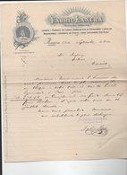 Renteria (Espagne) Lettre à Entête  1910 FABRIL LANERA  (PPP14539) - Spain