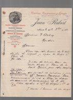 Alicante (Espagne) Lettre à Entête  JUAN RUBERT  Transportes Combinados  1910  (PPP14540) - Spain
