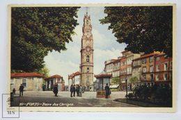 Postcard Portugal - Porto - Torre Dos Clerigos - Ed. C. C. De Vasconcellos - Tabacaria Africana - Porto