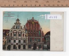 8037 RIGA SCHWARZHAUPTERHAUSE ANNO 1914ANGOLI DANNEGGIATI - Lettonia