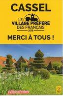 """CASSEL (NORD) : CARTE POSTALE """"VILLAGE PREFERE DES FRANCAIS 2018"""" - Postcards"""