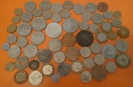 FRANCE LOT VRAC DE 62 PIECES DE MONNAIE NON TRIÉ - FRANCE LOT BULK OF 62 PIECES OF CURRENCY NOT SORTED - Vrac - Monnaies