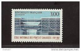 France 3047 Neuf ** ( Ecole Des Ponts Et Chaussées )  Cote 1,40€ - France