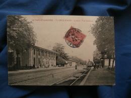 Valence D'Agen  La Gare  Vue Intérieure  Train  Animée - Ed. Galan - Circulée 1906 - R232 - Valence