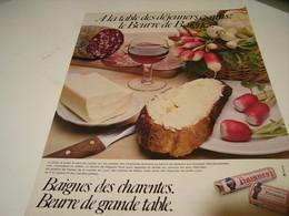ANCIENNE AFFICHE PUBLICITE  BAIGBES DES CHARENTES  BEURRE 1979 - Posters