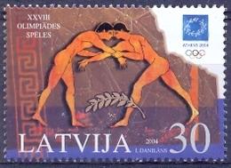 LV 2004-619 OLYMPIC GAMES ATHENA, LATVIA, 1v, MNH - Ete 2004: Athènes