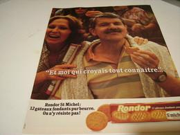 ANCIENNE AFFICHE PUBLICITE  BISCUIT RONDOR DE ST MICHEL 1979 - Posters