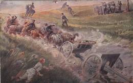 GUERRE 1914 NOTRE 75 EN ARGONNE ILLUSTRATION G BLOUET - Equipment