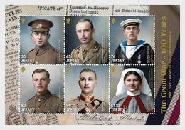 Jersey 2018 - The Great War - 100 Years - Part 5 Souvenir Sheet Mnh - Jersey