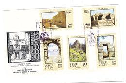 Peru TOURISM ARCHITECTURE FDC 1970 - Andere
