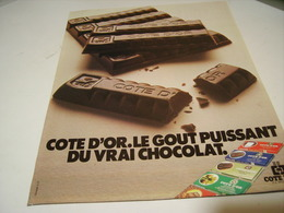 ANCIENNE AFFICHE PUBLICITE CHOCOLAT DE COTE D OR  1979 - Posters