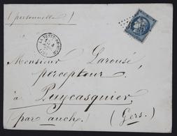 Lettre France 1870-71 Emission De Bordeaux 20c Bleu Type II Report 2 45b 04-04-1871. GC 3925 La Teste-de-Buch - 1849-1876: Période Classique