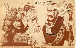 GRAND ORIENT(CARTE A SYSTEME) FRANC MACON - Satiriques