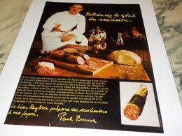 ANCIENNE AFFICHE PUBLICITE  SAUCISSON PAUL BOCUSE 1979 - Affiches