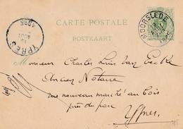 Gelopen Briefkaart Nr 17   /  MOORSLEDE => YPRES  ( Ieper )    In ( 1885 ) - Wenduine