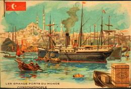 CHROMO - CHICOREE Des ROIS Qualité Sublime - C. BERIOT à LILLE - Les Grands Ports Du Monde - CONSTANTINOPLE - BE - Thee & Koffie